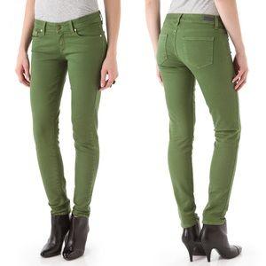 Paige green 'Skyline Ankle Peg' skinny jean sz 26